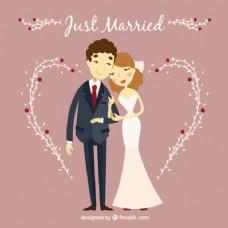 夫妇刚结婚