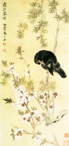 鸟语花香装饰画图片