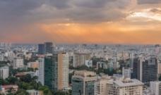 繁华城市风景图片