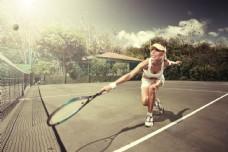 网球美女运动员图片