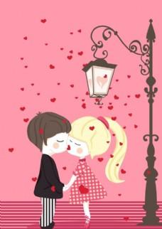 卡通小情侣素材