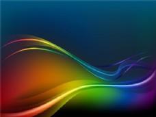多彩的波浪
