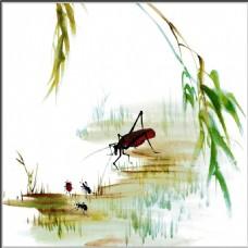昆虫风景装饰画