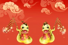 新年蛇素材图片