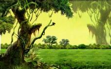 树木草坪装饰素材