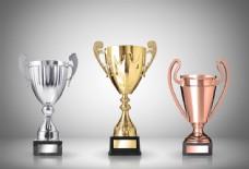 三色奖杯图图片