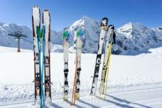 雪地上的雪橇图片