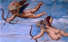 油画射箭的天使装饰画
