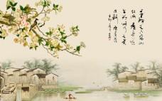 花卉元素村庄素材