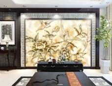 凹凸浮雕装饰背景墙
