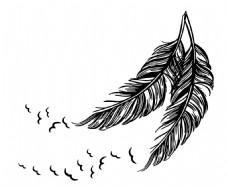背景墙贴 羽毛