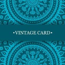 民族特色的浅蓝色卡片