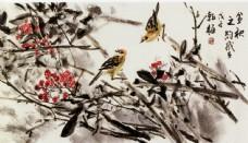 水墨花鸟画图片