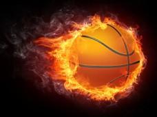 带火焰的篮球图片