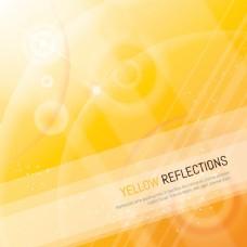 线条和阴影的黄色反射背景