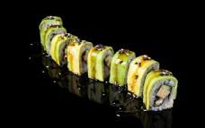 高清日式料理美食寿司印刷