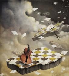 小提琴音乐海报图片