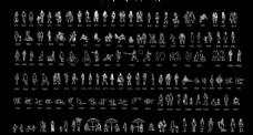 人物 平面 图例