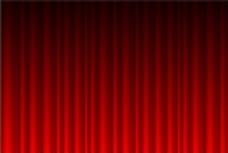 红色幕布背景