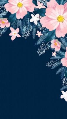 手绘花卉h5背景