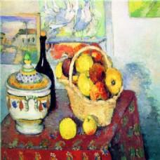 油画水果桌角装饰画