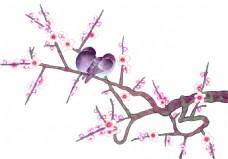 梅花枝装饰画
