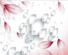 花瓣抽象形状背景墙