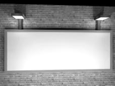 空白展板图片