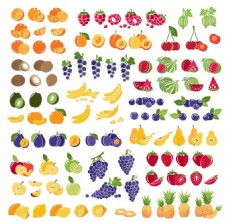 各种水果插画
