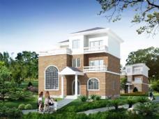 别墅建筑透视图图片