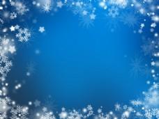 雪花蓝色背景图片