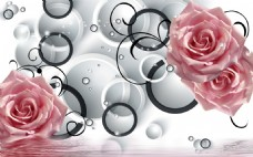 玫瑰元素背景墙