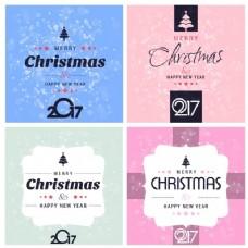 圣诞贺卡和新年快乐