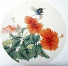 水墨花卉蝴蝶图片