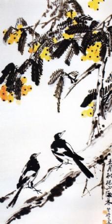 动物植物水墨画图片