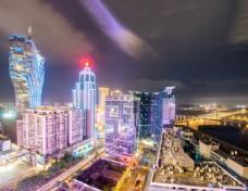 赌场外面的夜景图片
