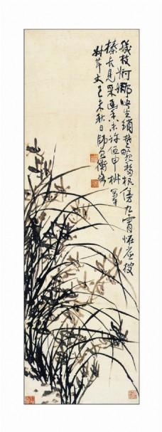 兰花题材装饰画