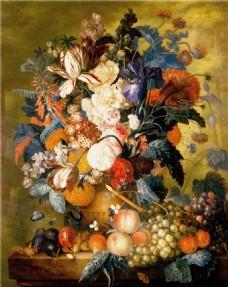 油画花朵果蔬装饰画