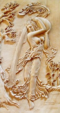 欧式浮雕装饰背景墙