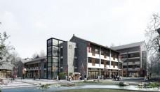 古镇建筑设计透视图片