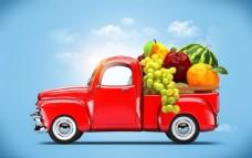 汽车内的水果图片
