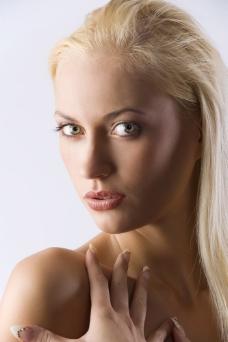 美容美发女性模特图片