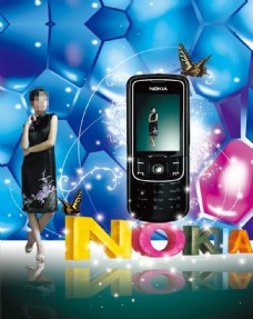 诺基亚美女手机时尚炫彩手机