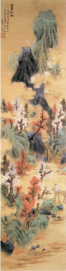 白云红树图装饰画