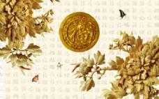 立体花卉装饰背景墙