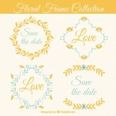 婚礼花卉框架集