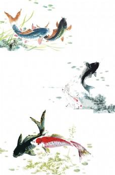 国画鱼图片