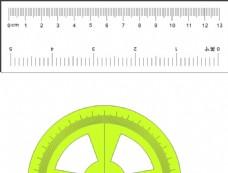 直尺量角器矢量图