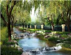 滨河景观设计效果图