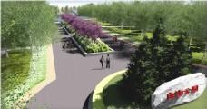 白沟公园景观设计效果图